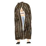retro cartoon long haired hippie man Stock Photo
