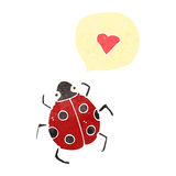 retro cartoon love bug Royalty Free Stock Photos