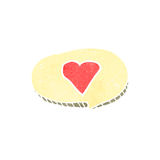 Retro cartoon love heart symbol in speech bubble Royalty Free Stock Photography
