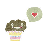 Retro cartoon love muffin Royalty Free Stock Photo