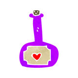 Retro cartoon love potion Royalty Free Stock Images