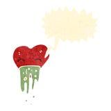 Retro cartoon love sick heart Stock Photography