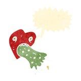 Retro cartoon love sick heart Royalty Free Stock Photography