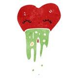 Retro cartoon love sick heart Stock Photo
