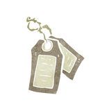 Retro cartoon luggage tag Royalty Free Stock Images