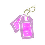 retro cartoon luggage tags Royalty Free Stock Photography