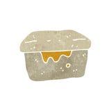 retro cartoon lunch box Stock Image