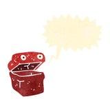 Retro cartoon lunchbox character. Retro cartoon with texture. Isolated on White Stock Photos