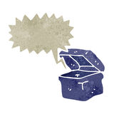 Retro cartoon lunchbox character. Retro cartoon with texture. Isolated on White Stock Photo