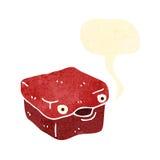 retro cartoon lunchbox character Stock Photo