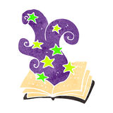 Retro cartoon magic spell book Royalty Free Stock Photo