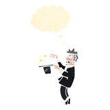 Retro cartoon magician Royalty Free Stock Photos