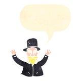 Retro cartoon magician Royalty Free Stock Photo
