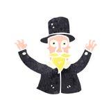 Retro cartoon magician Stock Photography