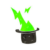 Retro cartoon magician's hat Stock Photography