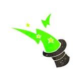 Retro cartoon magician's hat Royalty Free Stock Photography