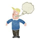 retro cartoon man with bad breath Stock Image