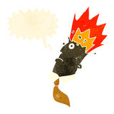 Retro cartoon man with exploding head Royalty Free Stock Images