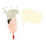 Retro cartoon man with exploding head Stock Image