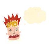 Retro cartoon man with exploding head Royalty Free Stock Image