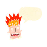 Retro cartoon man with exploding head Stock Photo