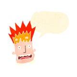 Retro cartoon man with exploding head Stock Photo