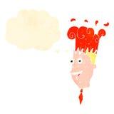 Retro cartoon man with exploding head Stock Photos