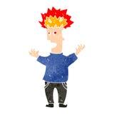 Retro cartoon man with exploding head Royalty Free Stock Photos
