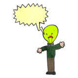 Retro cartoon man with light bulb head Royalty Free Stock Images