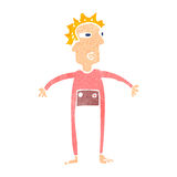 Retro cartoon man in onesie underwear Royalty Free Stock Photography