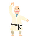 retro cartoon man performing karate chop Royalty Free Stock Photography