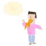 Retro cartoon man spitting lightning Royalty Free Stock Images