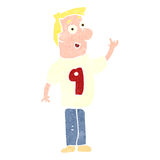 Retro cartoon man in sports shirt with number Stock Photo