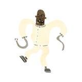 retro cartoon man in straight jacket Royalty Free Stock Photos