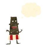 Retro cartoon man in underpants Royalty Free Stock Photography
