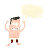Retro cartoon man in underpants panicking Royalty Free Stock Photos