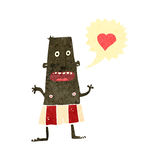 Retro cartoon man wearing shorts with love heart Stock Photo