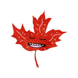 Retro cartoon maple leaf Royalty Free Stock Photo