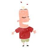 Retro cartoon meat head Stock Image