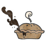 Retro cartoon meat pie Royalty Free Stock Photography