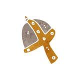 Retro cartoon medieval helmet Royalty Free Stock Photo