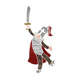Retro cartoon medieval knight Royalty Free Stock Image
