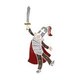 retro cartoon medieval knight Royalty Free Stock Image