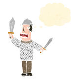 Retro cartoon medieval soldier Royalty Free Stock Photo