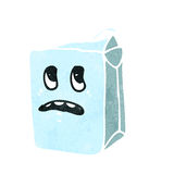 Retro cartoon milk carton Royalty Free Stock Image