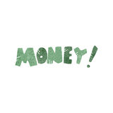 retro cartoon money Stock Images