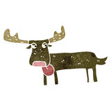 retro cartoon moose Royalty Free Stock Photos