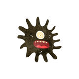 Retro cartoon mud splat monster Royalty Free Stock Photography