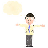 Retro cartoon muddy businessman Stock Photography
