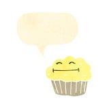 Retro cartoon muffin Stock Photo